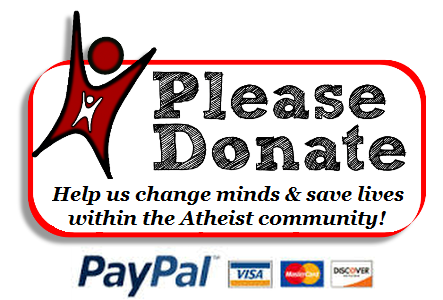 Donation button - Help us change minds & save lives within the atheist community!
