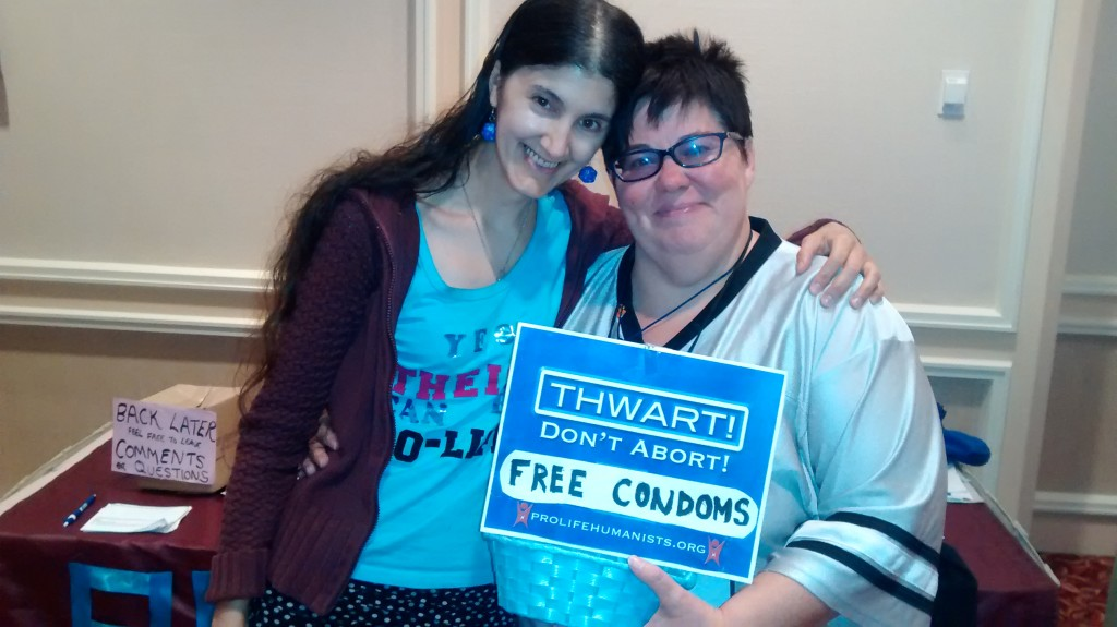 My new awesome pro-life atheist intactivist Whovian friend Traci!